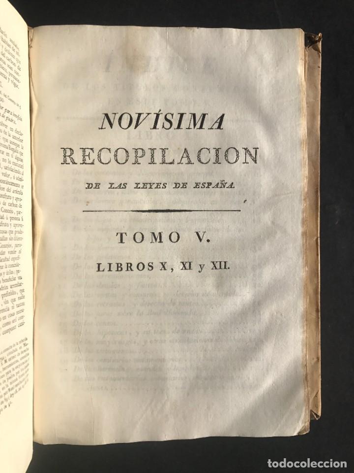 Libros antiguos: 1805 NOVISIMA RECOPILACION DE LAS LEYES DE ESPAÑA mandada por Carlos IV - pergamino Tomos IV y V. - Foto 12 - 233600770