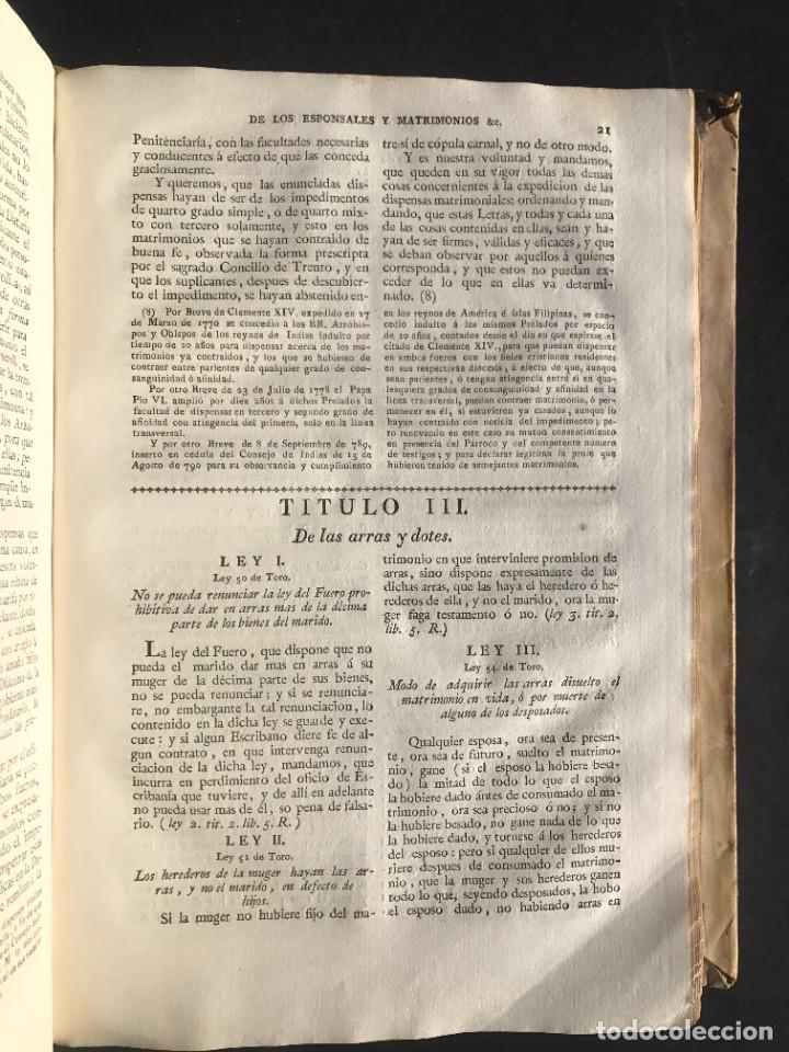 Libros antiguos: 1805 NOVISIMA RECOPILACION DE LAS LEYES DE ESPAÑA mandada por Carlos IV - pergamino Tomos IV y V. - Foto 15 - 233600770