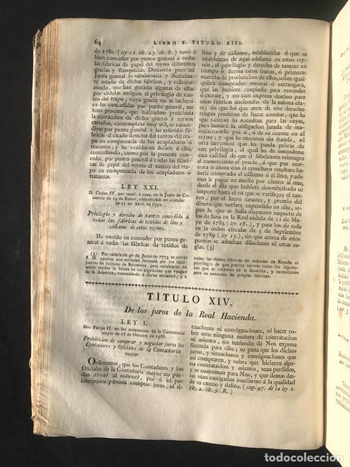 Libros antiguos: 1805 NOVISIMA RECOPILACION DE LAS LEYES DE ESPAÑA mandada por Carlos IV - pergamino Tomos IV y V. - Foto 16 - 233600770