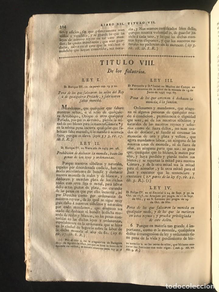 Libros antiguos: 1805 NOVISIMA RECOPILACION DE LAS LEYES DE ESPAÑA mandada por Carlos IV - pergamino Tomos IV y V. - Foto 19 - 233600770