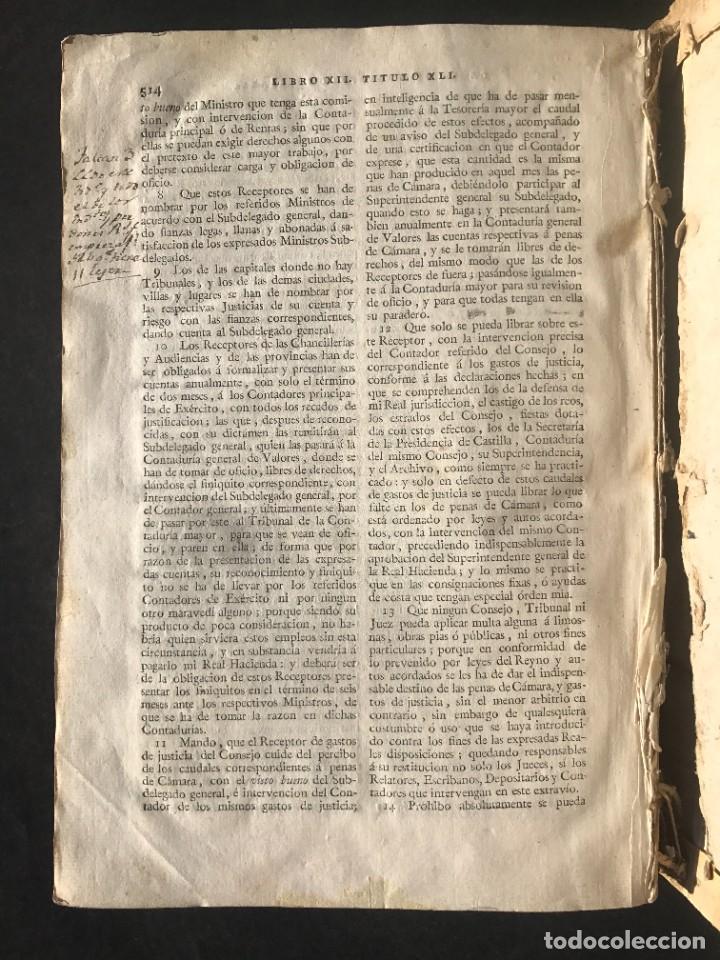 Libros antiguos: 1805 NOVISIMA RECOPILACION DE LAS LEYES DE ESPAÑA mandada por Carlos IV - pergamino Tomos IV y V. - Foto 28 - 233600770