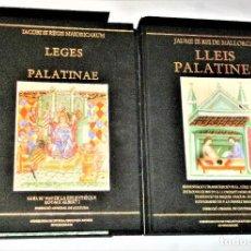 Libros antiguos: JAUME III REI DE MALLORCA.LLEIS PALATINES // IACOBI III REGIS MAIORICARUM, LEGES PALATINAE. Lote 233952120