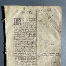 Libros antiguos: 1731 - PLEITO ENTRE REGIDORES DEL AYUNTAMIENTO DE BARCELONA SOBRE LOS TÍTULOS DE CASTILLA. Lote 235319815