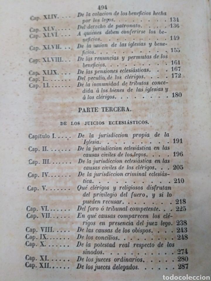 Libros antiguos: INSTITUCIONES DEL DERECHO CANÓNICO-DOMINGO CAVALLARIO-TOMO II-LIBRERÍA CALLEJA 1850-MIRAR FOTOS - Foto 6 - 235424340
