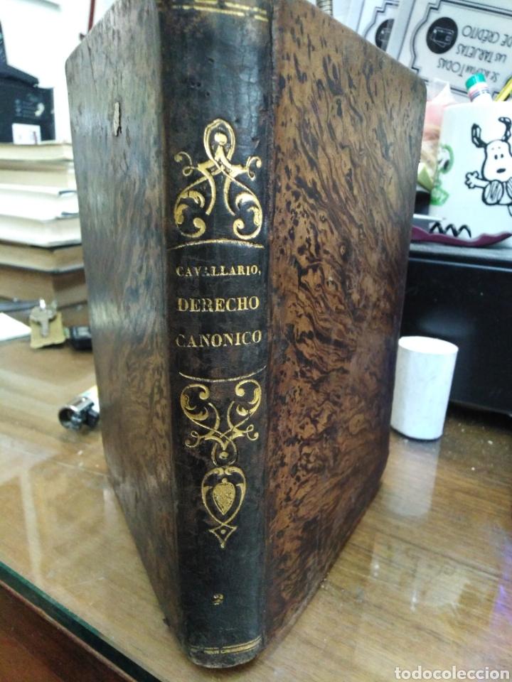 INSTITUCIONES DEL DERECHO CANÓNICO-DOMINGO CAVALLARIO-TOMO II-LIBRERÍA CALLEJA 1850-MIRAR FOTOS (Libros Antiguos, Raros y Curiosos - Ciencias, Manuales y Oficios - Derecho, Economía y Comercio)