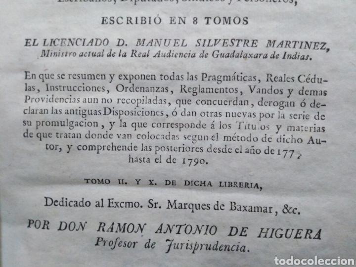 Libros antiguos: ADICCIÓN A LA LIBRERÍA DE JUECES-ULTIMISIMA Y UNIVERSAL-MANUEL SILVESTRE MARTÍNEZ-TOMÓ 10-1791 - Foto 5 - 235425935