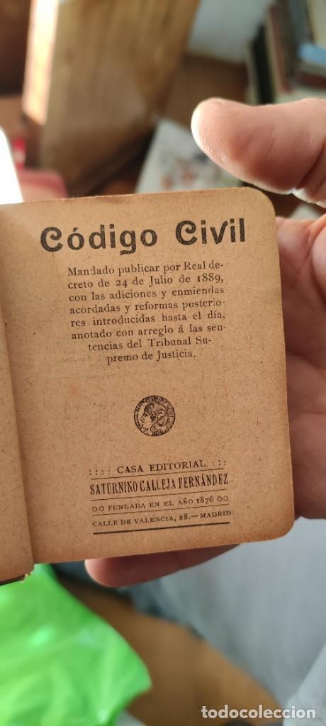 Libros antiguos: Codigo civil - Foto 2 - 235559330