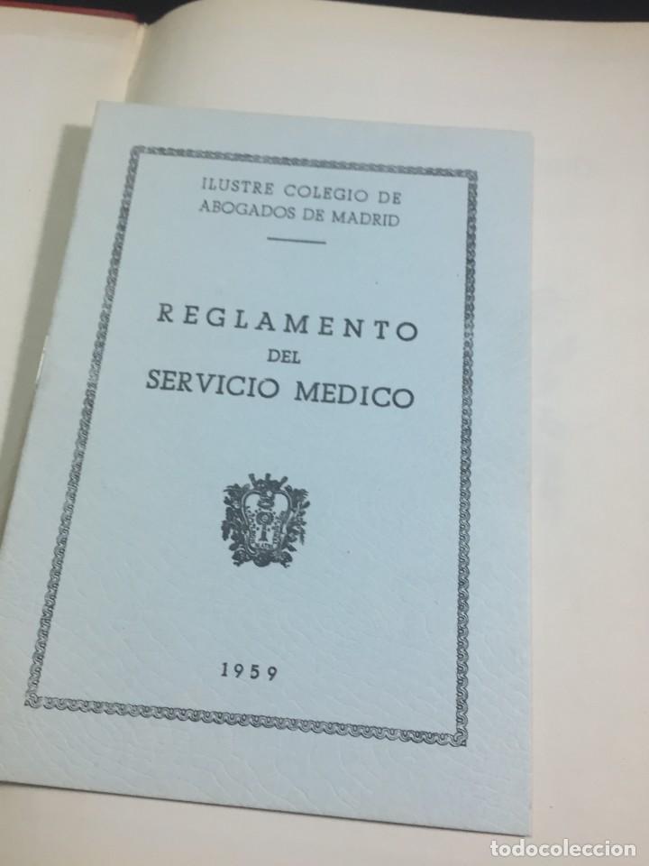 Libros antiguos: Lista de los Colegios de Abogados , Notarios, Procuradores y Secretarios Judiciales de Madrid 1959 - Foto 3 - 235628995