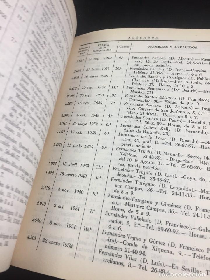 Libros antiguos: Lista de los Colegios de Abogados , Notarios, Procuradores y Secretarios Judiciales de Madrid 1959 - Foto 11 - 235628995