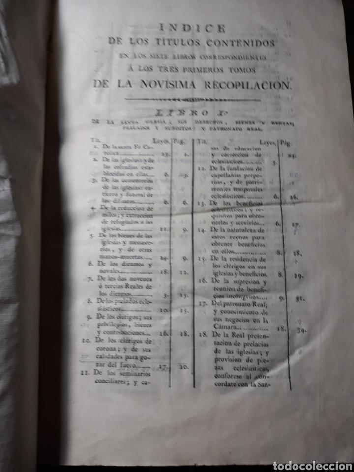 Libros antiguos: EXTRACTO DE LA NOVÍSIMA RECOPILACIÓN DE LEYES DE ESPAÑA.JUAN DE LA REGUERA VALDELOMAR .IMPRENTA 1815 - Foto 5 - 235631270