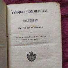 Libros antiguos: 1856. CODIGO COMMERCIAL PORTUGUEZ. COIMBRA.. Lote 235786835