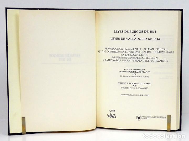 Libros antiguos: LEYES de Burgos de 1512 y Valladolid 1513. Facsímil. Edición especial de 50 ejemplares. 2 tomos - Foto 5 - 236309140