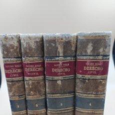 Livros antigos: DERECHO CIVIL 4 TOMOS SANCHEZ-ROMAN 1890. Lote 236336770