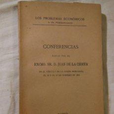 Libros antiguos: CONFERENCIAS. 1915 JUAN DE LA CIERVA. Lote 236434510