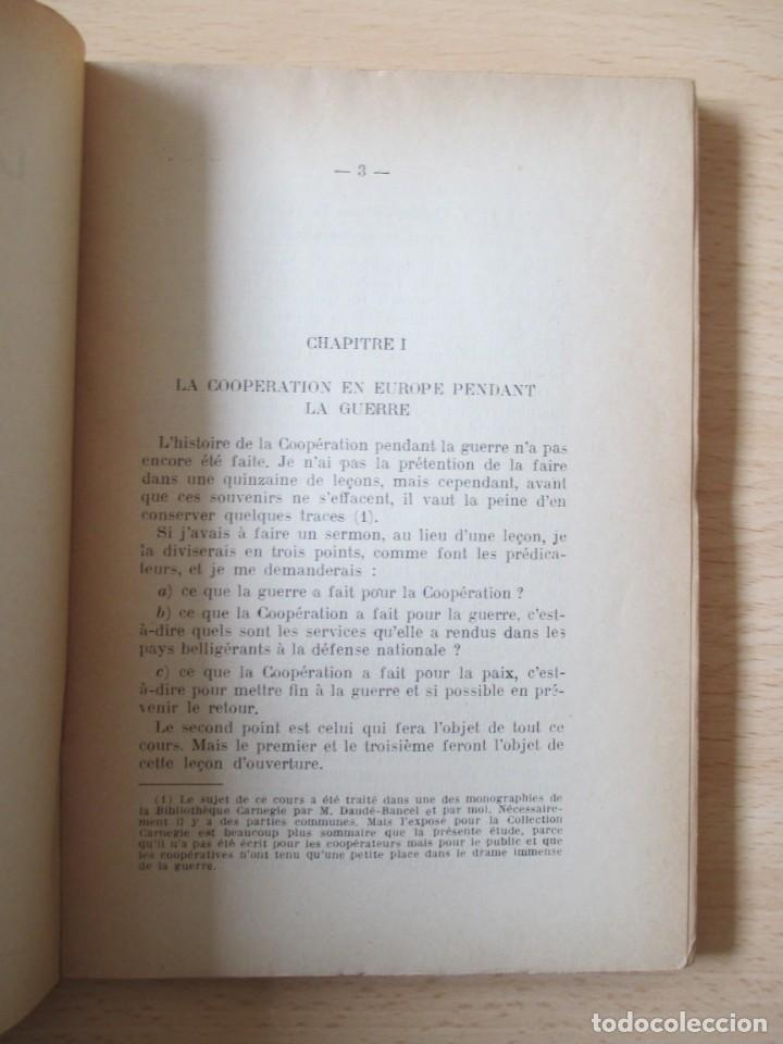 Libros antiguos: Les coopératives Françaises durant la Guerre, de Charles Gide - Foto 6 - 236500985