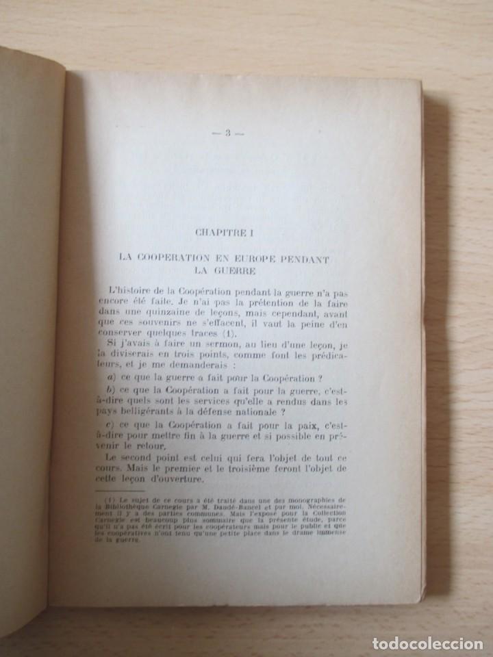 Libros antiguos: Les coopératives Françaises durant la Guerre, de Charles Gide - Foto 7 - 236500985