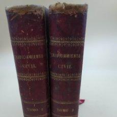 Libros antiguos: LA LEY Y LA JURISPRUDENCIA DEL ENJUICIAMIENTO CIVIL .JOSÉ ROBLES POZO 1888. Lote 236548375
