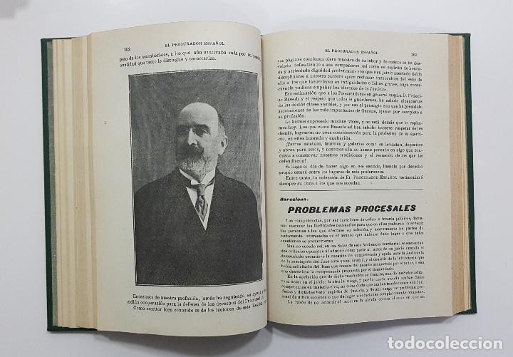 Libros antiguos: EL PROCURADOR ESPAÑOL. REVISTA JURIDICA. AÑO 1919. Organo Científico-Profesional de los Procuradores - Foto 7 - 237181355