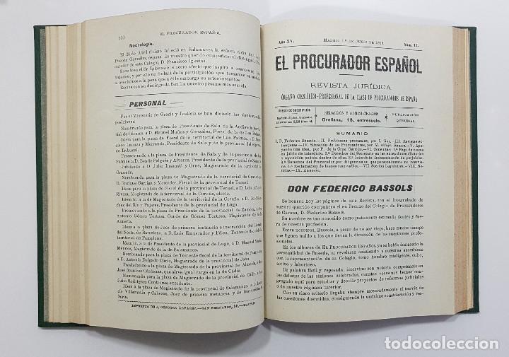 Libros antiguos: EL PROCURADOR ESPAÑOL. REVISTA JURIDICA. AÑO 1919. Organo Científico-Profesional de los Procuradores - Foto 8 - 237181355