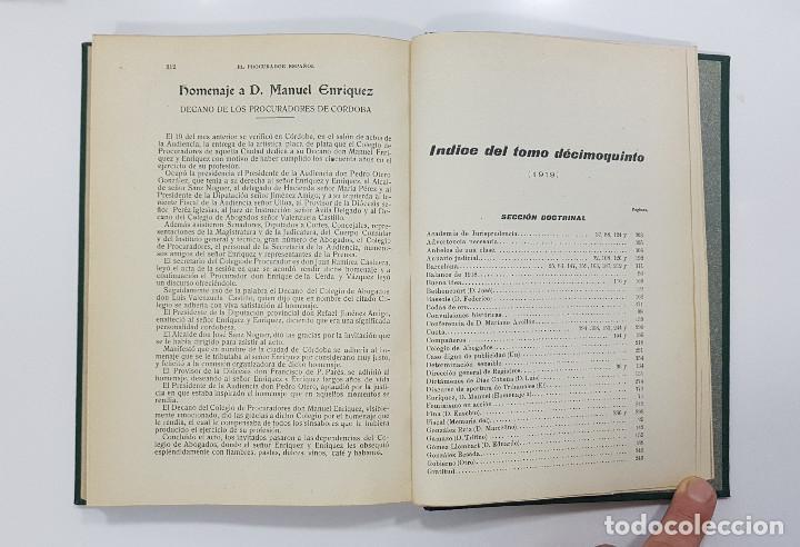 Libros antiguos: EL PROCURADOR ESPAÑOL. REVISTA JURIDICA. AÑO 1919. Organo Científico-Profesional de los Procuradores - Foto 11 - 237181355