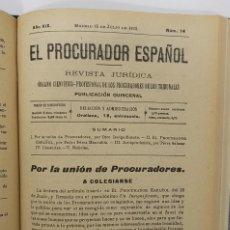 Libros antiguos: EL PROCURADOR ESPAÑOL. REVISTA JURIDICA. AÑO 1923. ORGANO CIENTÍFICO-PROFESIONAL DE LOS PROCURADORES. Lote 238462480