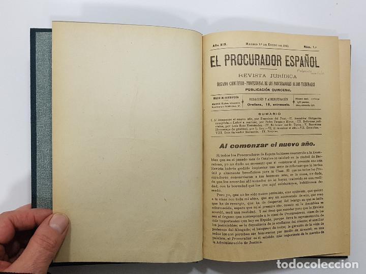 Libros antiguos: EL PROCURADOR ESPAÑOL. REVISTA JURIDICA. AÑO 1923. Organo Científico-Profesional de los Procuradores - Foto 6 - 238462480
