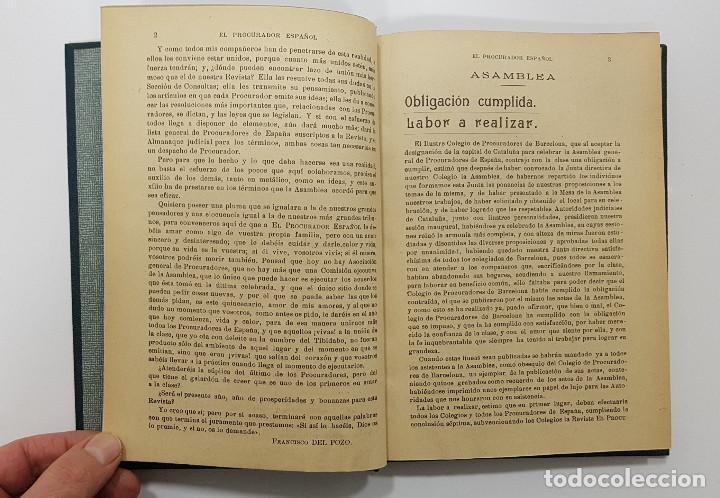 Libros antiguos: EL PROCURADOR ESPAÑOL. REVISTA JURIDICA. AÑO 1923. Organo Científico-Profesional de los Procuradores - Foto 8 - 238462480