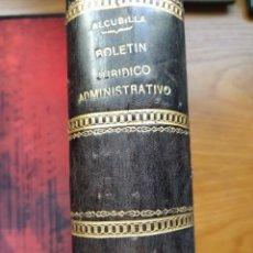 Libros antiguos: BOLETÍN JURÍDICO ADMINISTRATIVO. D. MARCELO MARTÍNEZ ALCUBILLA. APÉNDICE DE 1900. 9º DE 5ª ED. 1900.. Lote 240047035