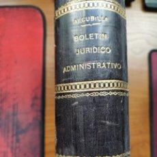 Libros antiguos: BOLETÍN JURÍDICO ADMINISTRATIVO. D. MARCELO MARTÍNEZ ALCUBILLA. ANUARIO DE 1896. APÉNDICE 5º DE 5ªED. Lote 240048555