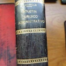 Libros antiguos: BOLETÍN JURÍDICO ADMINISTRATIVO. D. MARCELO MARTÍNEZ ALCUBILLA. ANUARIO DE 1896. APÉNDICE 5º DE 5ªED. Lote 240049655