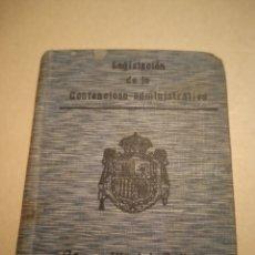 Libros antiguos: LEGISLACIÓN CONTENCIOSO ADMINISTRATIVA BIBLIOTECA DE DERECHO SATURNINO CALLEJA. Lote 240588495