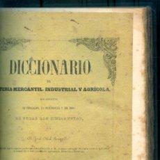Libros antiguos: NUMULITE L0753 DICCIONARIO DE MATERIA MERCANTIL INDUSTRIAL Y AGRÍCOLA TOMO III 1855 BARCELONA. Lote 240937430