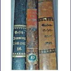 Livros antigos: AÑO 1858-68: 3 ELEGANTES LIBROS DEL SIGLO XIX SOBRE DERECHO. 25 CM.. Lote 241655700