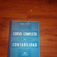 Libros antiguos: CURSO COMPLETO DE CONTABILIDAD 1965. Lote 243758125