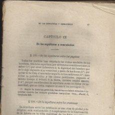 Libros antiguos: INSTITUCION DEL DERECHO CANONIGO.TOMO II ( IMCOMPLETO)- AÑO 1885. Lote 243790880