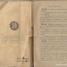 Libros antiguos: LEY MUNICIPAL.DE 2 OCTUBRE DE 1877. Lote 243794305