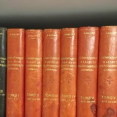Libros antiguos: COMENTARIOS A LA LEY DE ENJUICIAMIENTO CRIMINAL -- ENRIQUE AGUILERA DE PAZ -- EDITORIAL REUS 1923 --. Lote 243848000