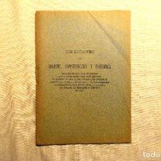 Libros antiguos: 1911 - HIGIENE, CONSTRUCCIÓN Y ECONOMÍA EN LA CONSTRUCCIÓN DE VIVIENDAS BARATAS. Lote 243900910