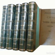 Libros antiguos: CAUSA POR REGICIDIO FRUSTRADO (1906-1909) ATENTADO DEL 1 DE MAYO DE 1906. CAUSA CONTRA MATEO MORRAL. Lote 244189625