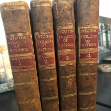Livros antigos: AN INQUIRY INTO THE NATURE AND CAUSES OF THE WEALTH OF NATIONS, ADAM SMITH 4 VOLS.1786. Lote 244423660