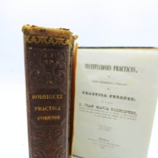 Libros antiguos: CURSO ELEMENTAL COMPLETO DE PRÁCTICA FORENSE POR JUAN MARÍA RODRÍGUEZ 1842 PRIMERA EDICIÓN. Lote 245215205