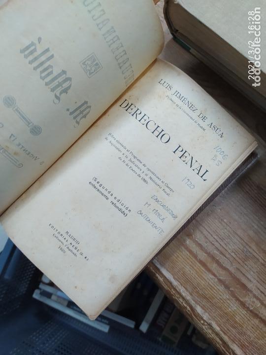 Libros antiguos: Derecho penal, Luis Jiménez de Asúa. 1920. L.24308 - Foto 2 - 245262795
