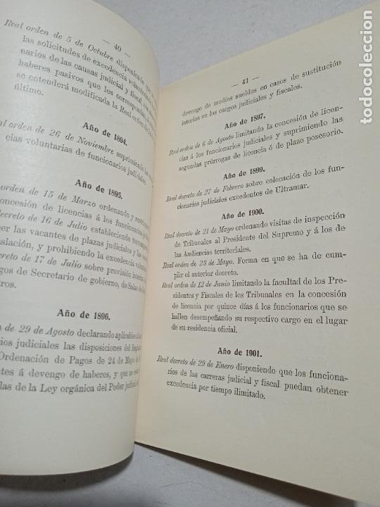 Libros antiguos: EL TRIBUNAL SUPREMO. NOTAS RELATIVAS A SU ORIGEN Y VICISITUDES. RELACION DE SU PERSONAL DESDE 1812 - Foto 5 - 245275040