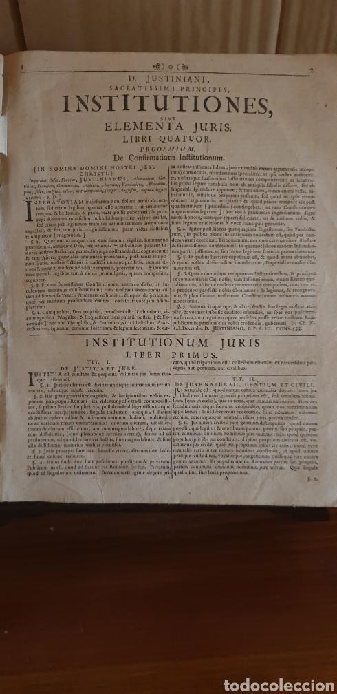 Libros antiguos: LIBRO DE JUSTINIANO, CORPUS IURIS CIVILIS, Colonia 1735 - Foto 3 - 245363945