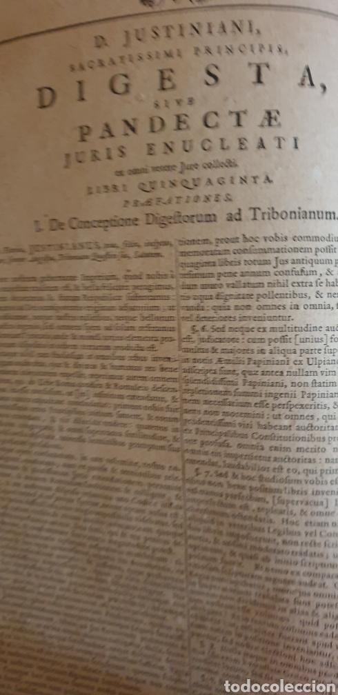 Libros antiguos: LIBRO DE JUSTINIANO, CORPUS IURIS CIVILIS, Colonia 1735 - Foto 4 - 245363945