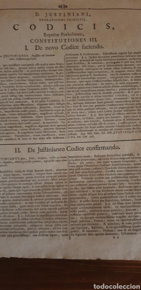 Libros antiguos: LIBRO DE JUSTINIANO, CORPUS IURIS CIVILIS, Colonia 1735 - Foto 5 - 245363945