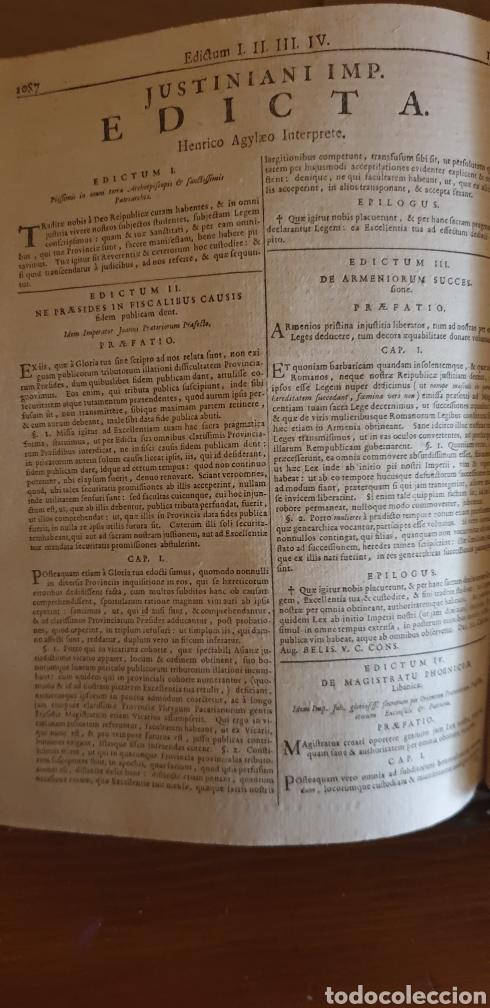Libros antiguos: LIBRO DE JUSTINIANO, CORPUS IURIS CIVILIS, Colonia 1735 - Foto 6 - 245363945