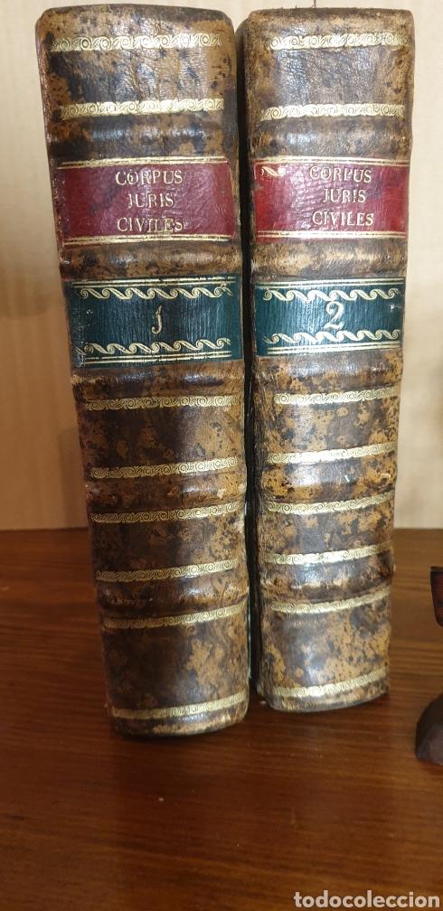 LIBRO DE JUSTINIANO, CORPUS IURIS CIVILIS, COLONIA 1735 (Libros Antiguos, Raros y Curiosos - Ciencias, Manuales y Oficios - Derecho, Economía y Comercio)