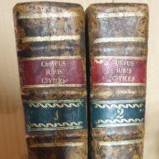 Libros antiguos: LIBRO DE JUSTINIANO, CORPUS IURIS CIVILIS, COLONIA 1735. Lote 245363945