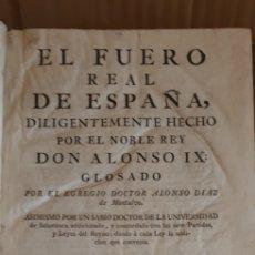 Libros antiguos: FUERO REAL DE ESPAÑA TOMO I, MADRID 1781. Lote 245366825